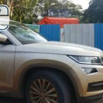 Skoda Kodiaq right side spy shot India