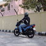 TVS Victor review motion rear three quarter