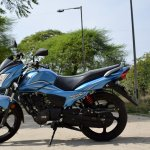 TVS Victor review still side