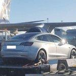 Tesla Model 3 New Zealand spy shot