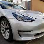 Tesla Model 3 front fascia spy shot