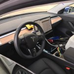Tesla Model 3 interior spy shot