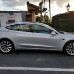 Tesla Model 3 right side spy shot