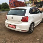 VW Polo TSI Bluemotion rear spied testing in India