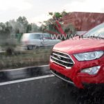 2017 Ford EcoSport Facelift Spied Undisguised in Arpoador Red Nose