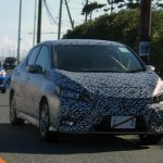 2017 Nissan Leaf test prototype front angle