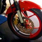 2017 Suzuki Gixxer with two-tone alloy wheels front wheel