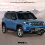 2018 Jeep Renegade (facelift) front three quarters rendering