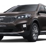2018 Kia Sorento (facelift) front three quarters studio image