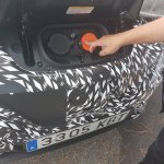 2018 Nissan Leaf charging lid spy photo