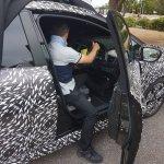 2018 Nissan Leaf interior spy shot