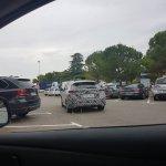 2018 Nissan Leaf rear three quarters left side spy shot