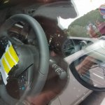 2018 Nissan Leaf steering wheel and instrument panel spy shot