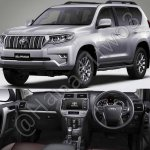 2018 Toyota Land Cruiser Prado front three quarters and dashboard