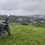 Bajaj Pulsar NS 160 right three quarter far