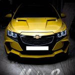 Chevrolet Cruze Project 'Yellow Transformer' front