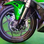 DSK Benelli 302R front wheel side view Indian launch