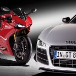 Ducati 1199 Panigale with Audi R8