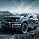 Ford Bronco 4-door front three quarters left side rendering