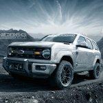 Ford Bronco 4-door front three quarters rendering