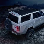 Ford Bronco 4-door rear three quarters elevated view rendering fourth image
