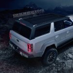 Ford Bronco 4-door rear three quarters elevated view rendering second image