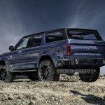 Ford Bronco 4-door rear three quarters rendering sixth image