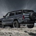 Ford Bronco 4-door rear three quarters rendering third image