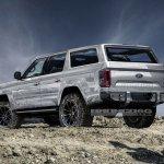 Ford Bronco 4-door rear three quarters rendering