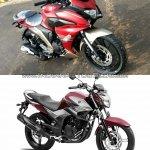 India-spec Yamaha Fazer 250 vs Brazilian-spec Yamaha Fazer 250 front angle