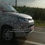 Mahindra KUV100 Facelift Spy Shots Nose