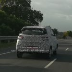 Mahindra KUV100 Facelift Spy Shots Rear Three Quarters