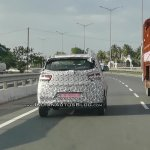 Mahindra KUV100 Facelift Spy Shots Rear