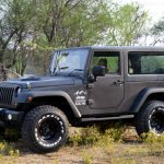 Mahindra Thar to Jeep Wrangler Conversion by Jeep Studio Left Front Three Quarters