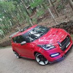 Maruti Swift modded Nissan GT-R front quarter