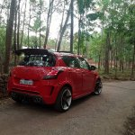 Maruti Swift modded Nissan GT-R rear three quarter