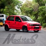 Maruti Zen Project POCKET ROCKET Modsters Automotive front three quarter