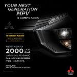 Mitsubishi Expander (Mitsubishi XM production) tease headlamp and bumper