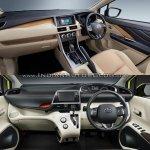 Mitsubishi Expander vs. Toyota Sienta interior