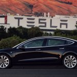 Production Tesla Model 3 profile