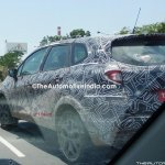 Renault Captur (Renault Kaptur) rear three quarters close spy shot India