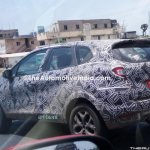 Renault Captur (Renault Kaptur) rear three quarters in motion spy shot India