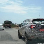 Renault Captur (Renault Kaptur) rear three quarters left side spy shot India