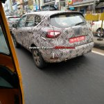 Renault Captur (Renault Kaptur) rear three quarters spy shot Vellore