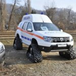 Renault Duster Ambulance with caterpillar tracks front quarter