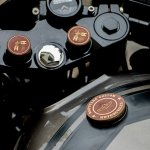 Royal Enfield Thunderbird 500 cafe racer by Rajputana Customs badging