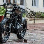 Royal Enfield Thunderbird 500 cafe racer by Rajputana Customs front three quarter left