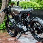 Royal Enfield Thunderbird 500 cafe racer by Rajputana Customs rear three quarter left