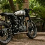Royal Enfield Thunderbird 500 cafe racer by Rajputana Customs rear three quarter right cover