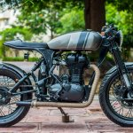 Royal Enfield Thunderbird 500 cafe racer by Rajputana Customs side right